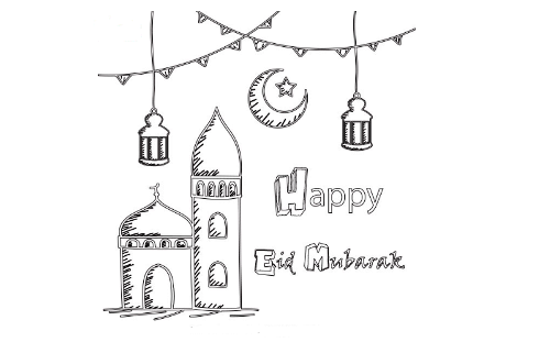 Eid Colouring Pages 2020