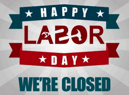 Free Printable Labor Day 2020 Closed Signs Of Holidays Free Download