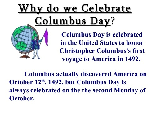 why we celebrate columbus day 2020