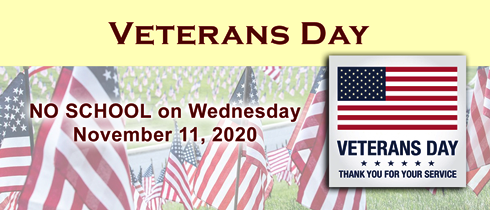 Are schools closed on Veterans day 2020