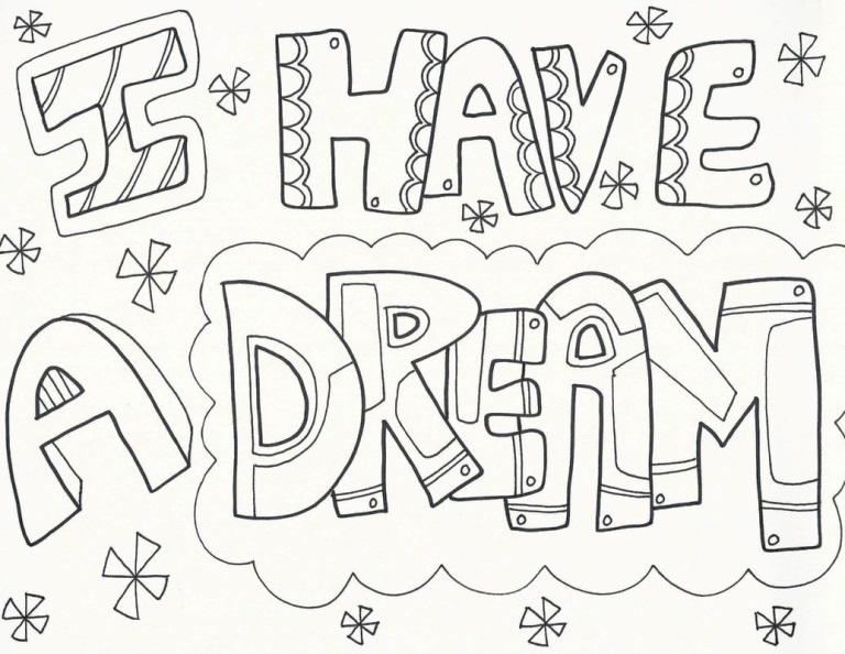 Martin Luther King Jr Coloring Pages 2021