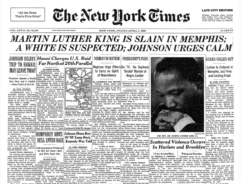 Who Assassinated Martin Luther King Jr and Why 2021